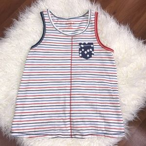 Cat & Jack Red, white & Blue striped criss cross